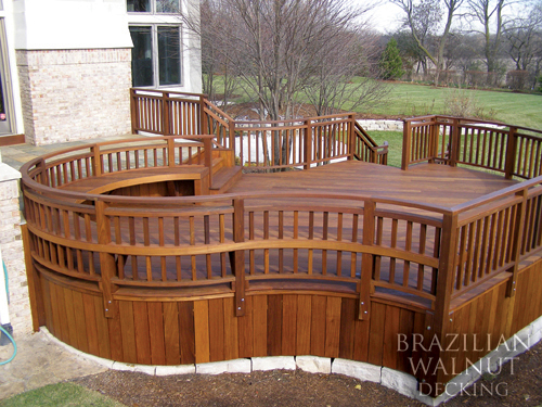 Brazilian walnut decking pictures of brazilian walnut for Garden decking examples